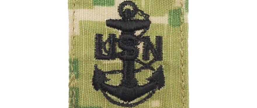Chief Petty Officer Parka Tab Action Embroidery